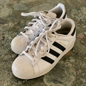 Adidas White Black Shell Top Sneakers
